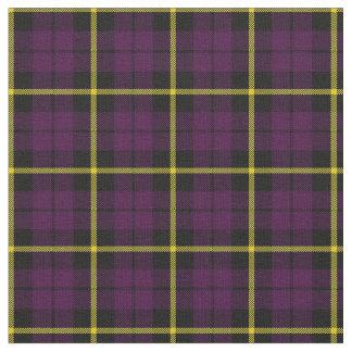 Dark warm purple black yellow stripe plaid print2 fabric