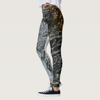 dark water splash leggings