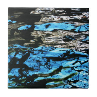 Dark Water waves Drops Crystal Clear Fine glass ti Tile