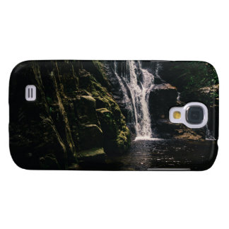 Dark Waterfall and A Lake, Nature Photograph