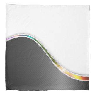 Dark Wave Abstract (2 sides) Queen Duvet Cover
