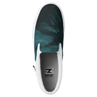 Dark wave slip on shoes