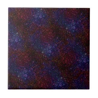 Dark Wavy Blue Red Faux Sparkle Glitter Pixel Tiles
