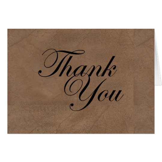 Dark Weathered Thank You Card