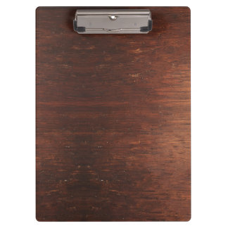 Dark weathered wood clipboard