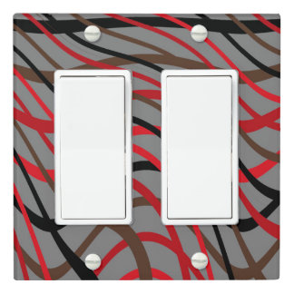 Dark Weave Wave Light Switch Cover