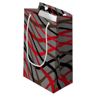 Dark Weave Wave Small Gift Bag