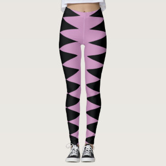 Dark Wedges on Lavender! Leggings
