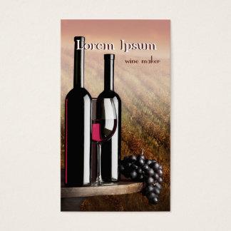 Dark Wine Maker Taster Winery Sommelier Bottle Business Card