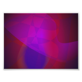 Dark Wine Simple Abstract Composition Photographic Print