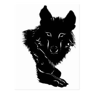 Dark Wolf Postcard