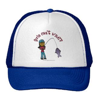Dark Woman Fishing Trucker Hat