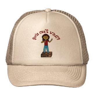 Dark Woman on Soapbox Trucker Hat
