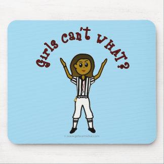 Dark Womens Football Referee Mouse Pad