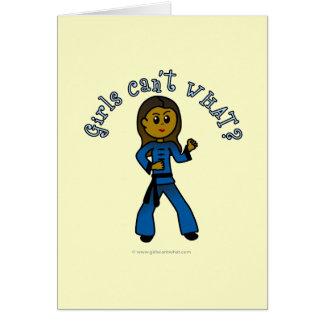 Dark Womens Kung Fu Greeting Card
