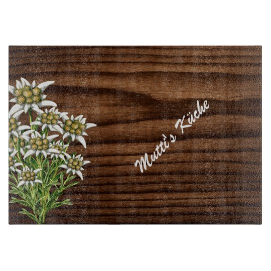 Dark Wood and Edelweiss Custom Cutting Board