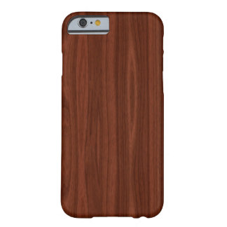 Dark Wood Barely There iPhone 6 Case
