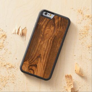 dark wood board carved cherry iPhone 6 bumper case