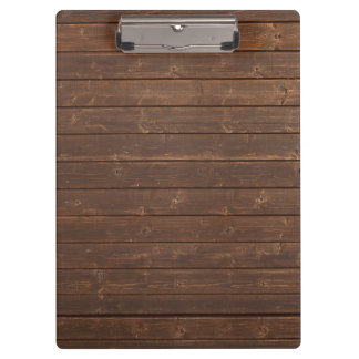 Dark wood boards clipboard