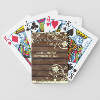Dark Wood Country Personalized Poker Deck