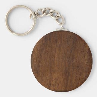 Dark Wood Elegant Simple Keychain
