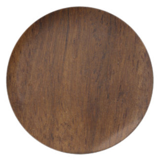 Dark Wood Elegant Simple Plate