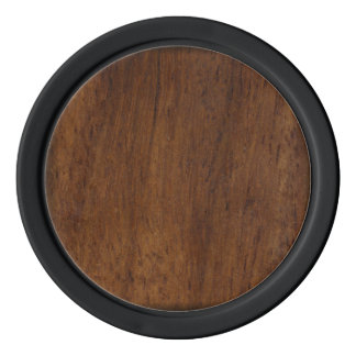Dark Wood Elegant Simple Poker Chips