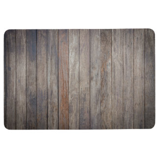 Dark wood floor mat