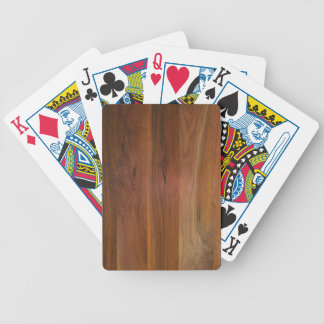 Dark Wood Grain Floor Poker Deck