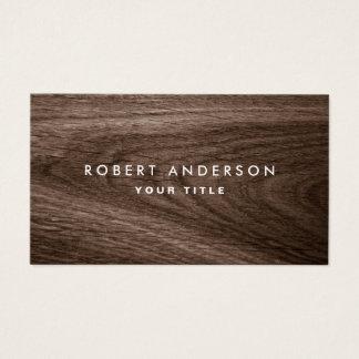 Dark wood grain professional profile business card