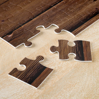 Dark Wood Planks Jigsaw Puzzle