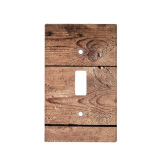 Dark Wood Planks Light Switch Cover