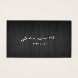 Dark Wood Real Estate Broker Business Card