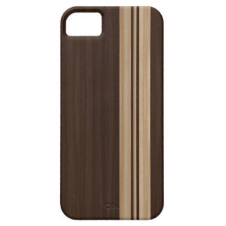 Dark Wood Stripes iPhone 5 Case - Surfboard Style