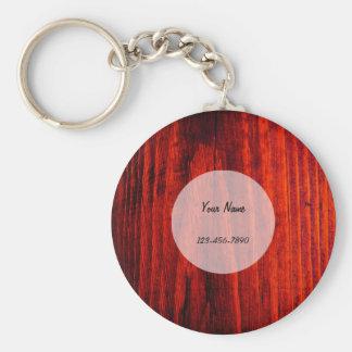 Dark Wood Texture Keychain