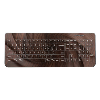 Dark wood wireless keyboard