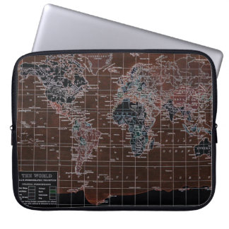 Dark World Map Laptop Laptop Sleeve