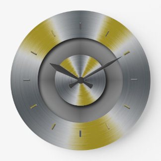 Dark Yellow Accents Color Matched Large Clock