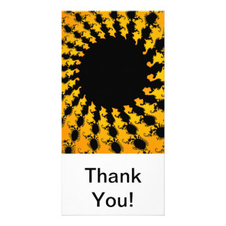 Dark Yellow Fractal Picture Card
