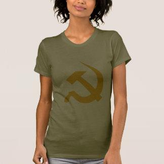 Dark Yellow Neo Hammer & Sickle on Army Green Tshirt