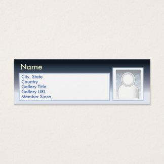 Dark Zazzle - Skinny Mini Business Card