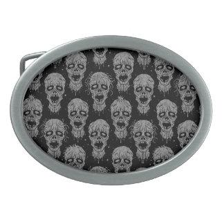Dark Zombie Apocalypse Pattern Belt Buckle