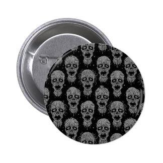 Dark Zombie Apocalypse Pattern Pin