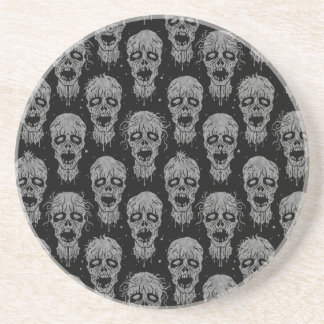 Dark Zombie Apocalypse Pattern Coasters