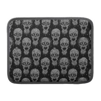 Dark Zombie Apocalypse Pattern MacBook Sleeves