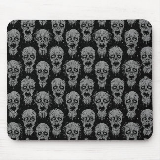 Dark Zombie Apocalypse Pattern Mouse Pad