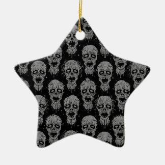 Dark Zombie Apocalypse Pattern Christmas Tree Ornaments