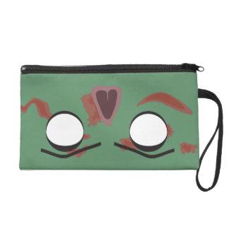 Dark Zombie Face Bag Wristlet Clutch