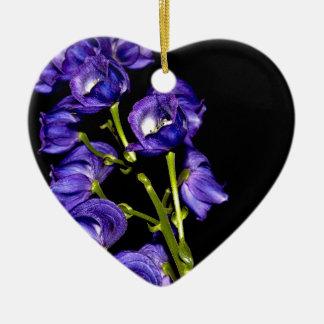 Darken purple blooms ceramic ornament
