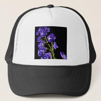 Darken purple blooms trucker hat
